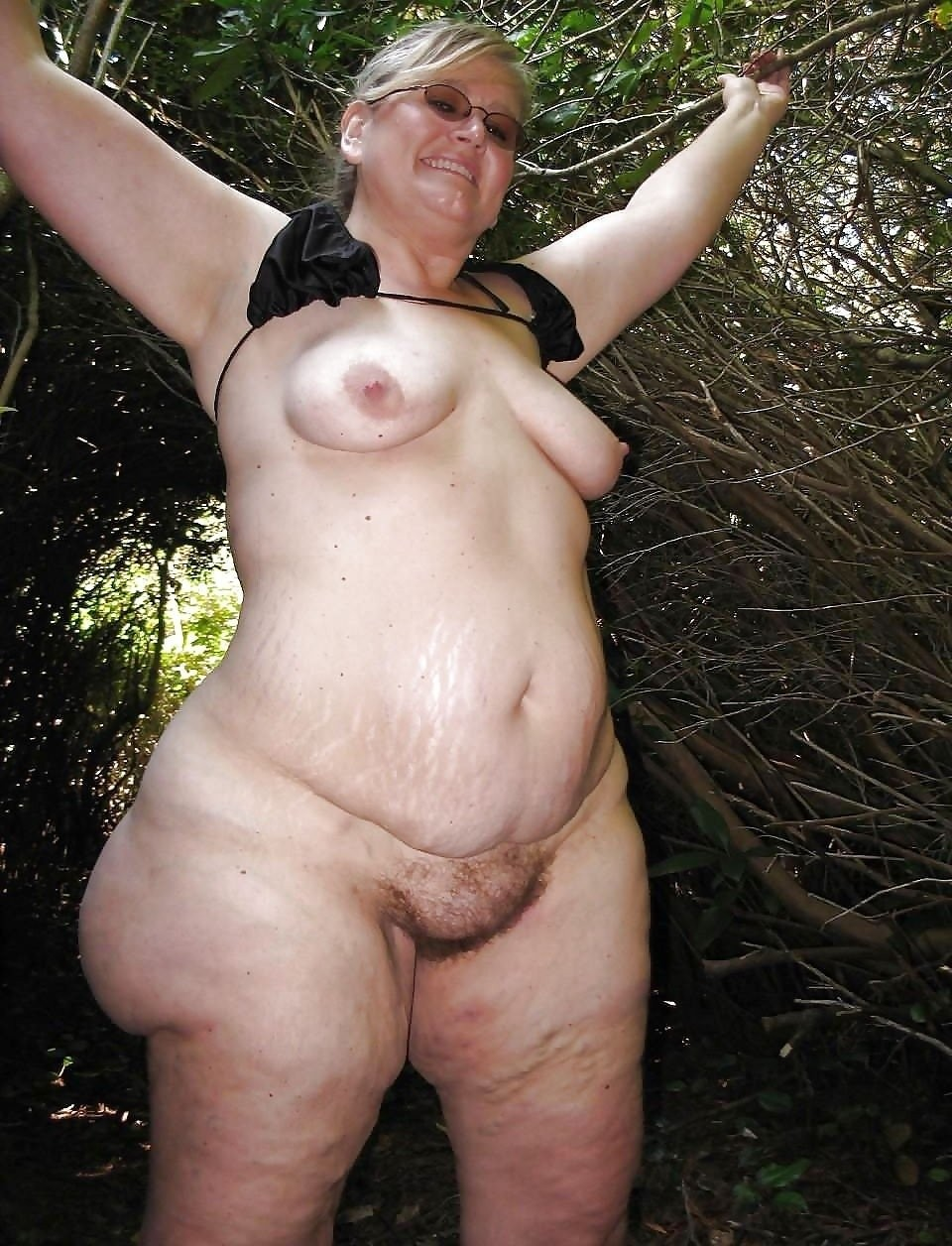 Chubby old granny tits