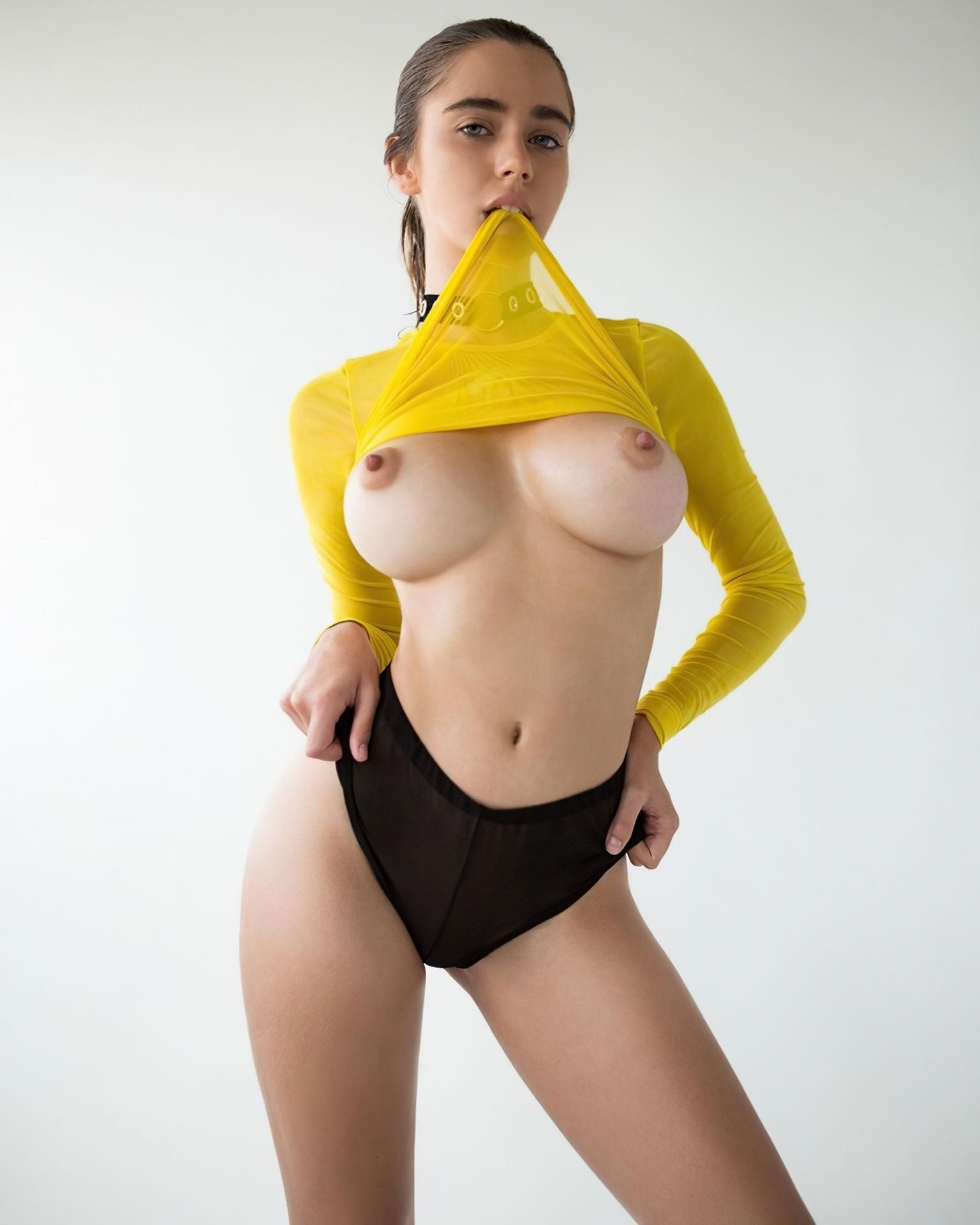 Danni levy ponytail and big boobs